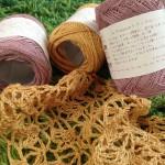 毛糸ピエロさんのトゥールで春者のショールを編み始めました♪