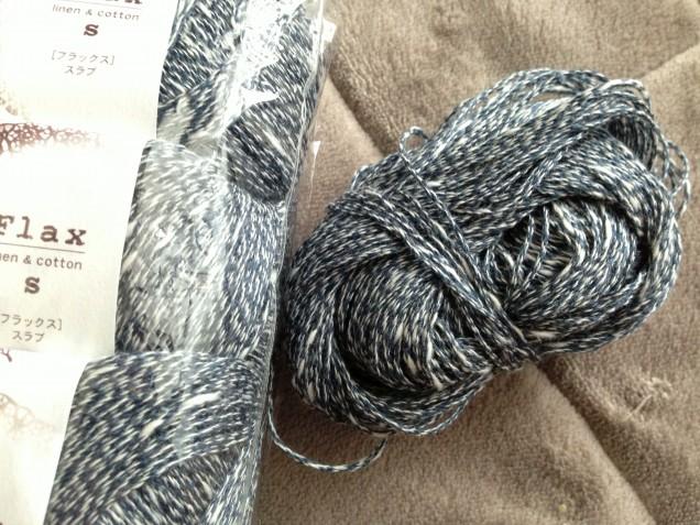 この深い色合い、編むと爽やかな雰囲気になります。