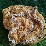 毛糸ピエロさんのトゥール×シロップで編んでいるパイナップル★ストールがもうすぐ完成です(*☻-☻*)