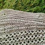 クロスショルダーの横編みセーター後ろ身ごろが編めました(*☻-☻*)♬