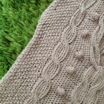 「そでつけなしの手あみニット」からアランの模様のセーター編んでました(=^ェ^=)