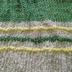 ガマン出来なくて。。ミドリのスクエアニットのカーディガンを編みはじめました^_^‼