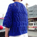 青々とした風渡るリネンのレーシーセーターの着画とヨーロッパの手編み春夏号