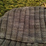 Malabrigo worstedで編みはじめたLin-Lin shawl。つまずいて進めなくなったLin-Lin shawl。