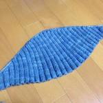 Lin-Lin shawl の幹セクション無事通過(^O^)と。モヘア アルパカで編む「ふんわりニット」と。