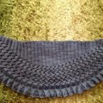 ♩Lin-Lin shawl が完成しました♪( ´θ`)ノ ♬ただいま、ブロッキング中。