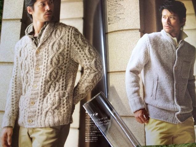 右側のジャケットもシンプルで素敵ですが、アランに決定です!!