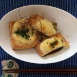 <本日の手間なしご飯>厚揚げのトースター焼き♡チーズトッピング
