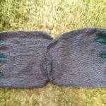 ダイヤシャンティのプルオーバーの袖が編めました。