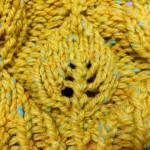miyayoさんの「Happa Hat」を編みました。