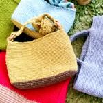 バッグ編み爆進中‼︎ジュート糸3種編み比べ。