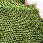 Meili 畦編みAラインプルオーバーの片袖が編めました!