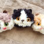ねこぐるみキーホルダーに三毛猫とハチワレが誕生しました!
