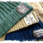 ハマナカ フラックスTwでリブ編みニットを編む 。