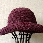ダルマ 笹和紙SASAWASHIで秋の帽子を編む。