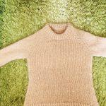 クレームシャンティーイのプルオーバーが編み上がりました❗️