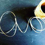 <糸❤︎レビュー>樹皮もどきという糸で帽子を編みました。