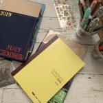 ほぼ日手帳とコクヨのノートカバー。